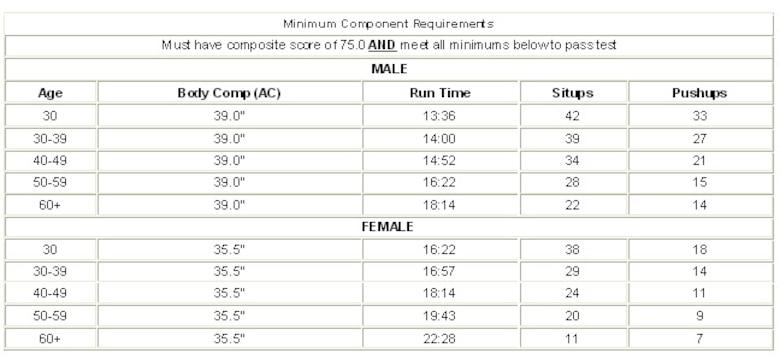 Air Force Fitness Standards - Blog Dandk