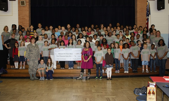 The Lovett Elementary Student Council in Houston, Texas, raised money in support of troops deployed to Haiti in February 2010. The money was used to purchase care packages which they sent recently to supply the troops with much-needed personal supplies that they were running low on. (Courtesy photo)