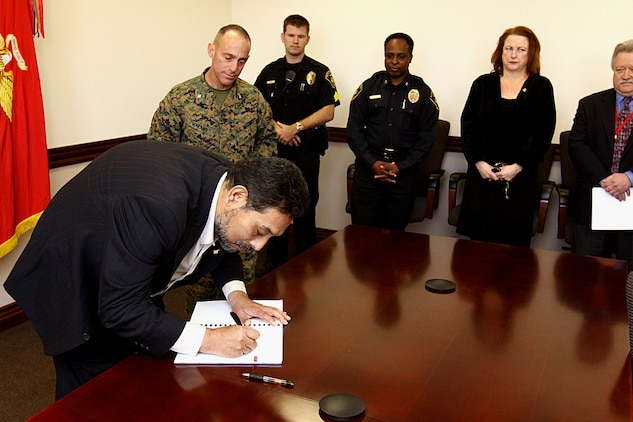 Camp Pendleton And Labor Union Officials Negotiate New Agreement