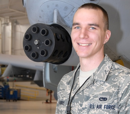 Senior Airman Jesse Farris, 442nd Aircraft Maintenance Squadron crew chief, saved a man's life when he saw an injured driver on the side of a snow-covered highway. With his self aid and buddy care training and the help of a wingman and an Airman's Manual, Airman Farris was able to keep the man safe until a rescue team arrived. The 442nd Aircraft Maintenance Squadron is part of the 442nd Fighter Wing, an Air Force Reserve unit at Whiteman Air Force Base, Mo. (U.S. Air Force photo/Senior Airman Danielle Wolf)