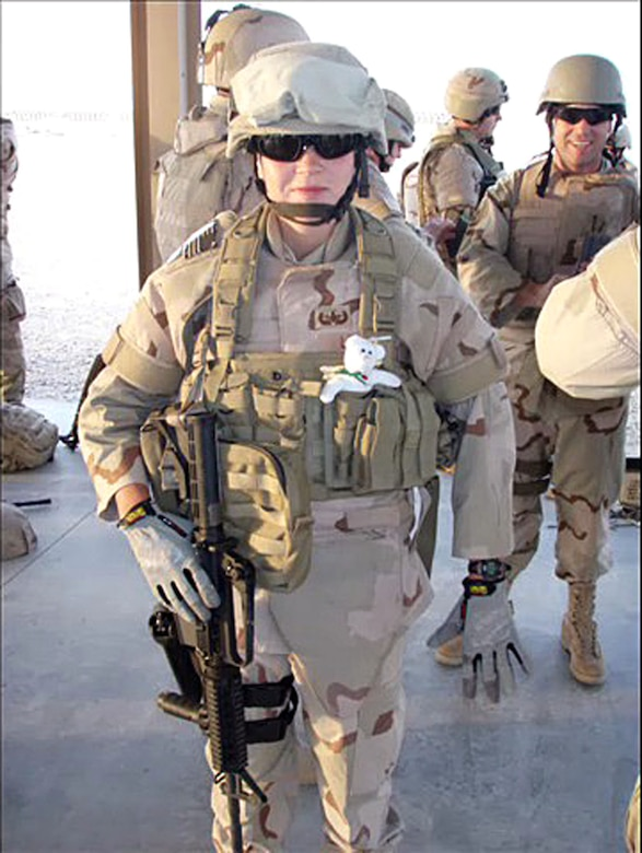 Senior Airmen Elizabeth Loncki in Iraq. She was killed Jan. 7, 2007, as her EOD team tried to dismantle a car bomb planted near Baghdad. She was the first woman from Delaware to die in combat.