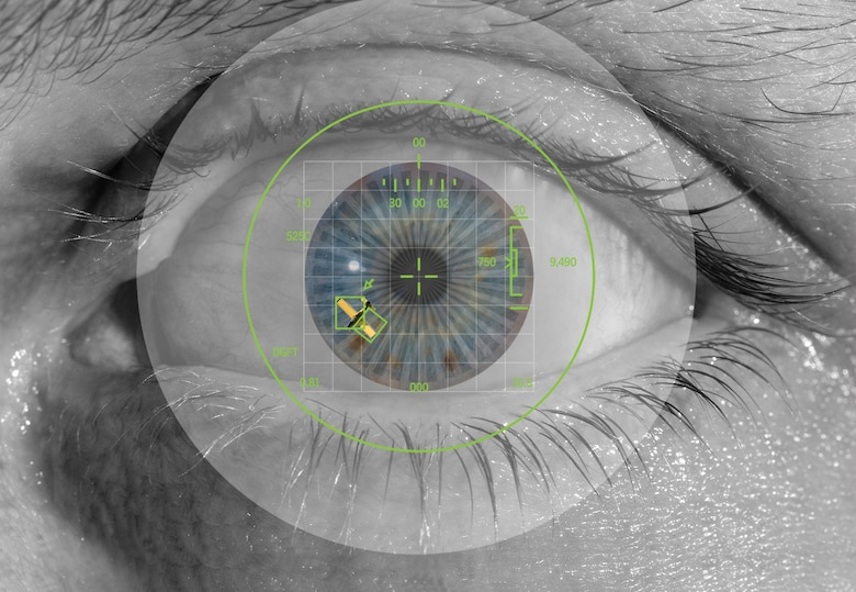 The human eye: the best piece of ?equipment? to avoid a midair collision. (Photo by Tech. Sgt. Matthew Hannen/composite by David M. Stack)