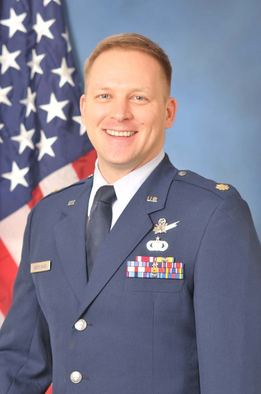 Maj. Eduardo Meidunas from the Headquarters Air Force Operational Test and Evaluation Center's Commanders Action Group at Kirtland AFB, N.M., is the 2009 AFOTEC Field Grade Officer of the Year.