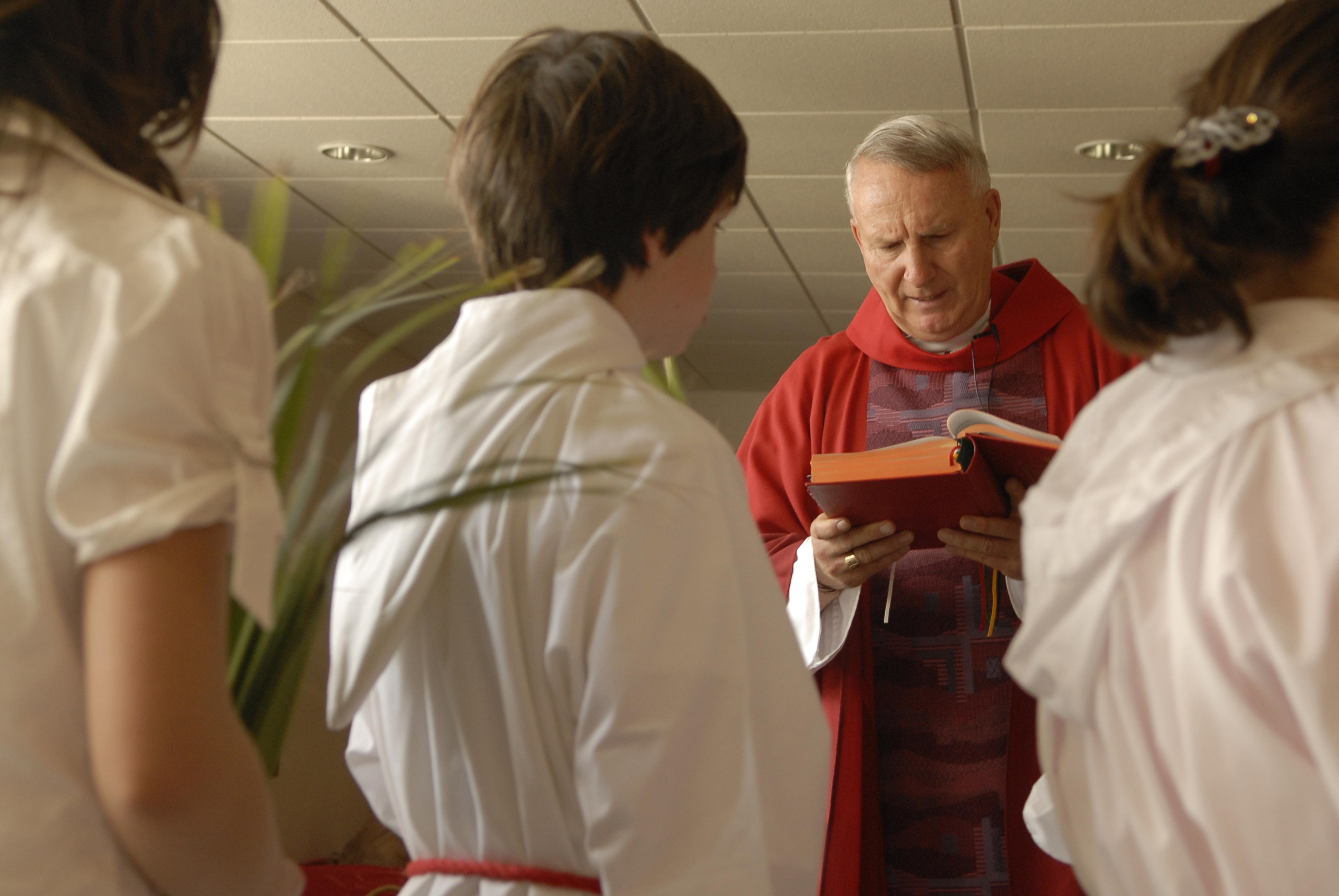 Catholic Priest and Children