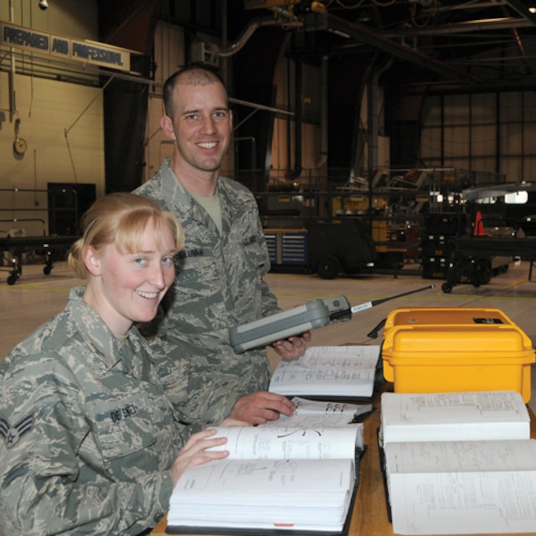 Among those effected by the Block 40 change at the 114th Fighter Wing are Staff  Sgt. Ryan J. Sullivan and  Senior Airman Ciara G. DeSmet.   Both  are in Avionics and will have to undergo training for the new aircraft.
