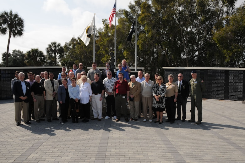 During a recent ESGR trip, local Niagara and Erie county employers had the opportunity to tour The United States Special Operations Command at MacDill Air Force Base, Tampa Fla. Above the group posed in front of The Special Operations Memorial located at MacDill AFB. The Memorial honors Special Operation members that have paid the ultimate price in preserving the freedoms and liberties that all Americans have become accustomed to. (U.S. Air Force photo/Senior Master Sgt. Ray Lloyd)