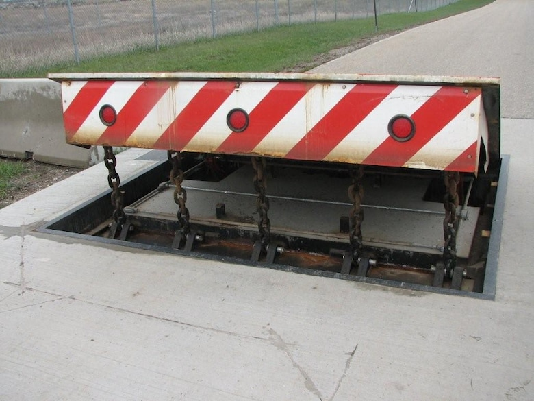 MINOT AIR FORCE BASE, N.D. -- The pop-up barriers for physical security
