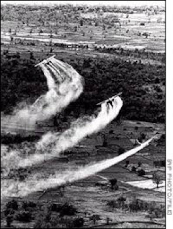 USAF aircraft spray herbicides in Vietnam