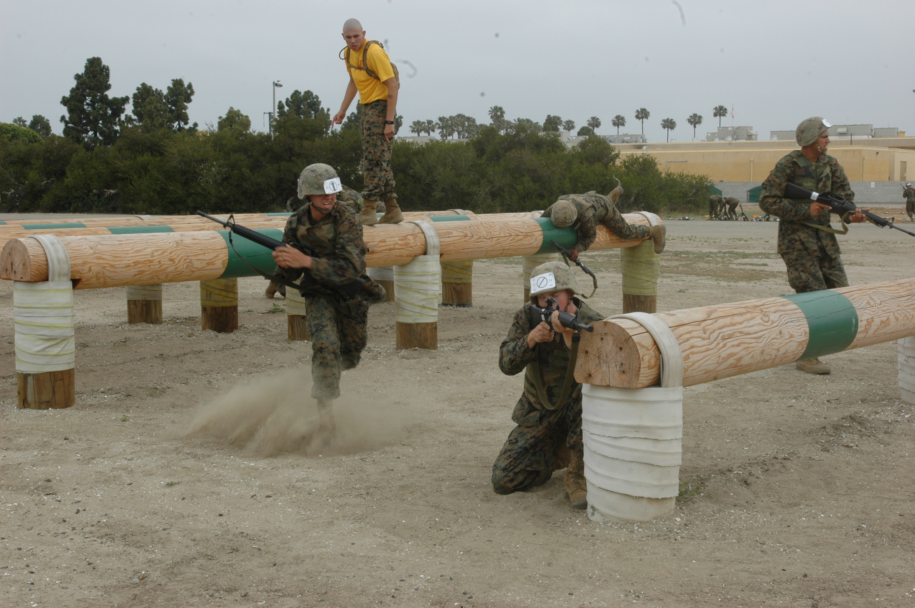 Company E Fire Teams Conquer Obstacle Course Marine Corps Physical Conditioning Platoon Basic Training Baseops