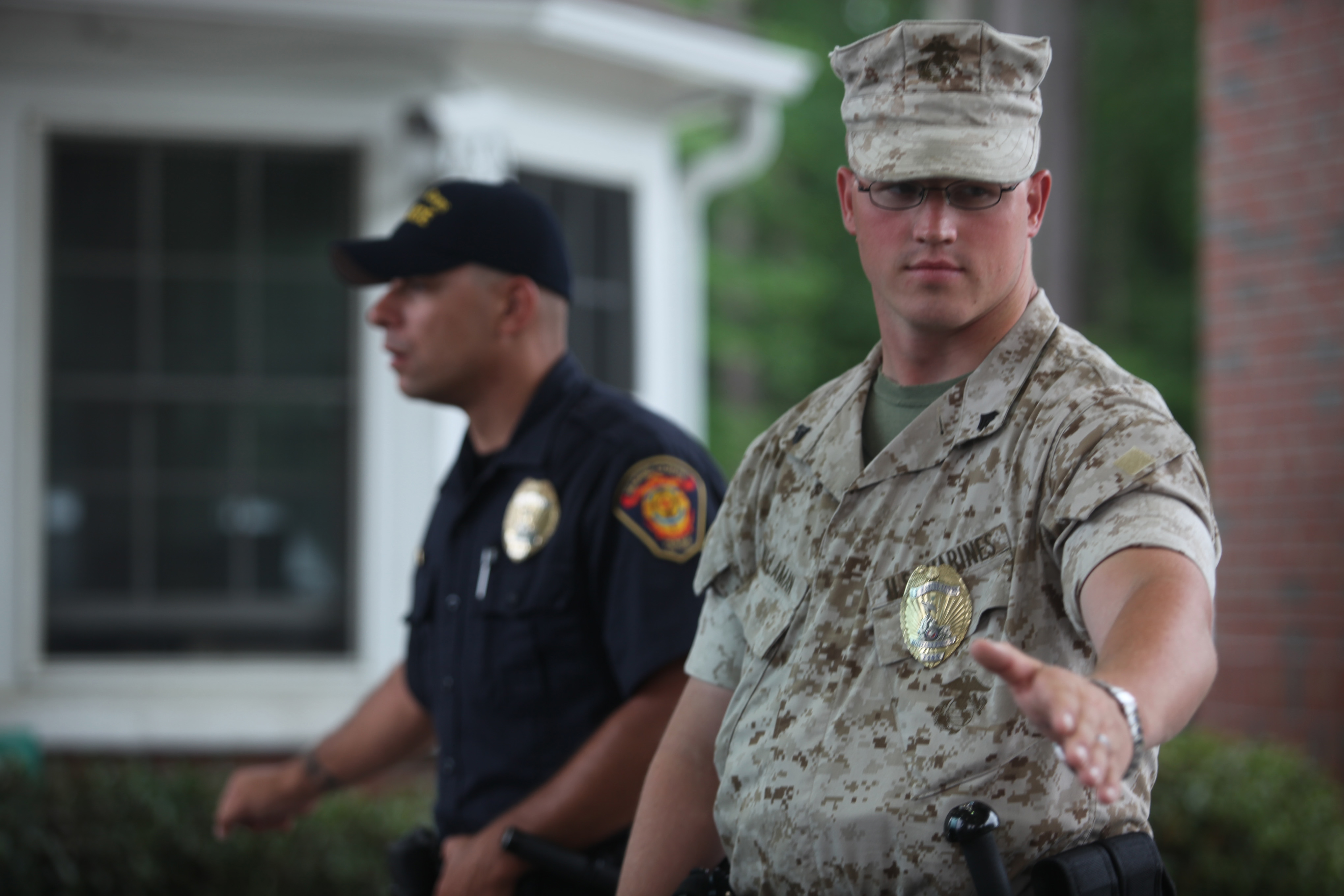 PMO gate sentries protect Marines > Marine Corps Base Camp ...