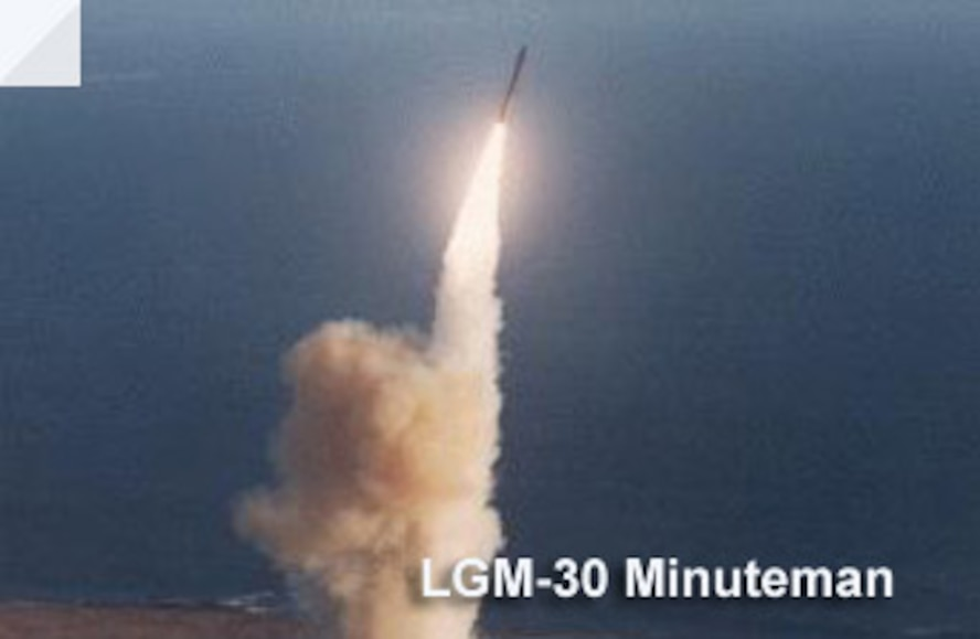The LGM-30G Minuteman intercontinental ballistic missile, or ICBM, is an element of the nation's strategic deterrent forces under the control of the Air Force Global Strike Command.
