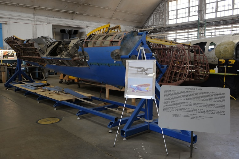 DAYTON, Ohio (04/2010) -- O-46A in the Restoration Hangar at the National Museum of the U.S. Air Force. (U.S. Air Force photo/Master Sgt. William Greer)