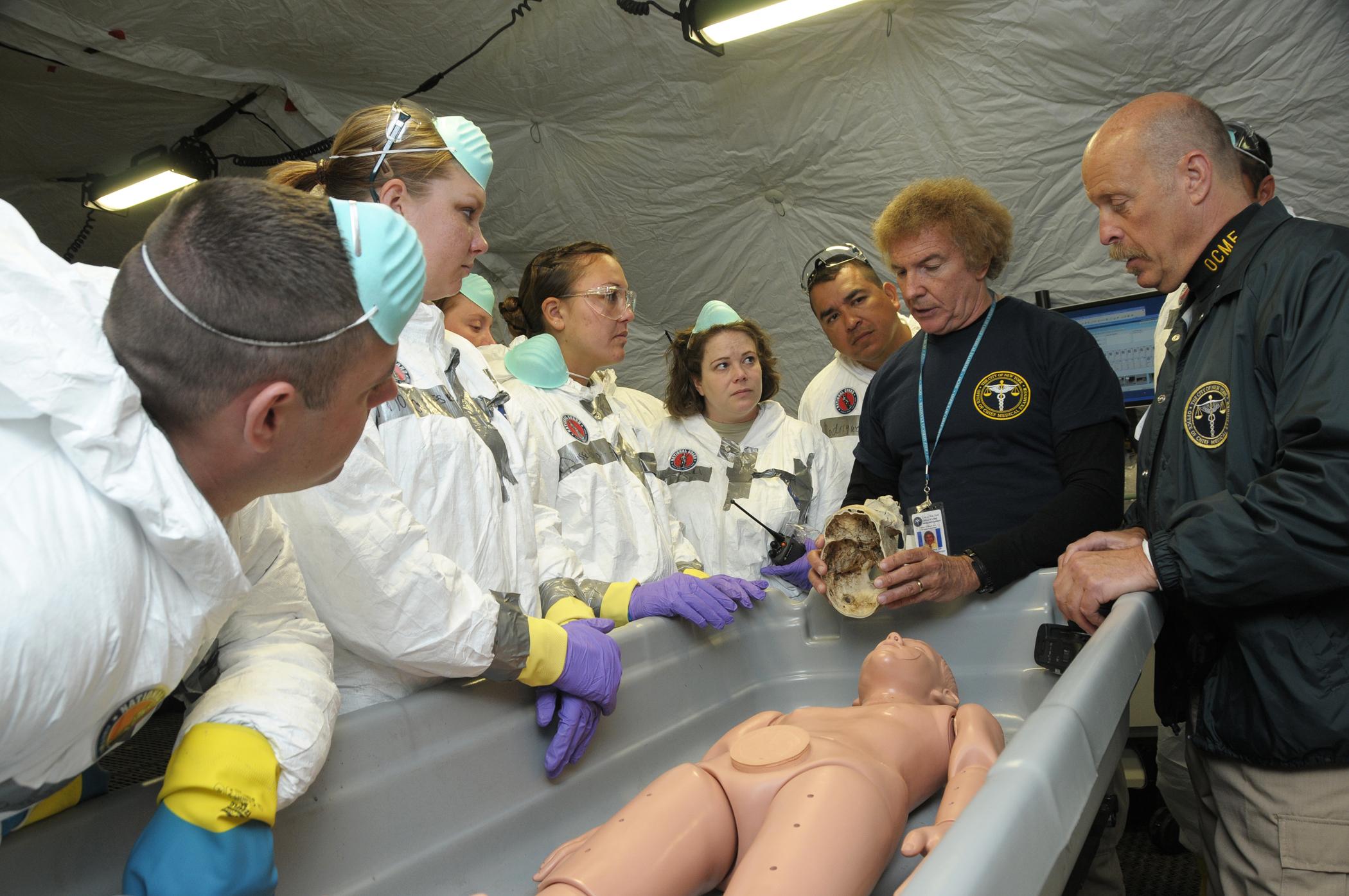 Air National Gaurd Supports Regional Mass Fatality Management Training Evolution Jersey City N J