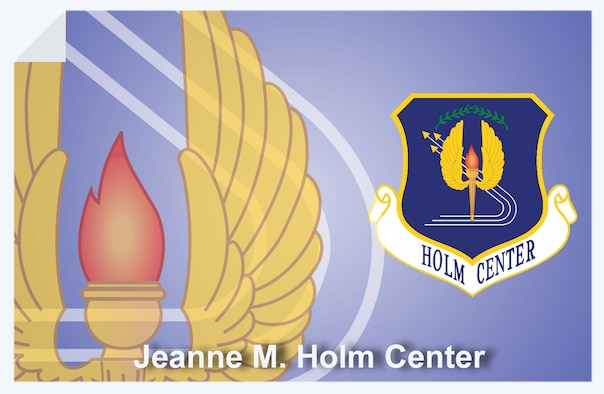 Jeanne M. Holm Center for Officer Accessions and Citizen Development web banner. (U.S. Air Force graphic by Andy Yacenda, Defense Media Activity-San Antonio).