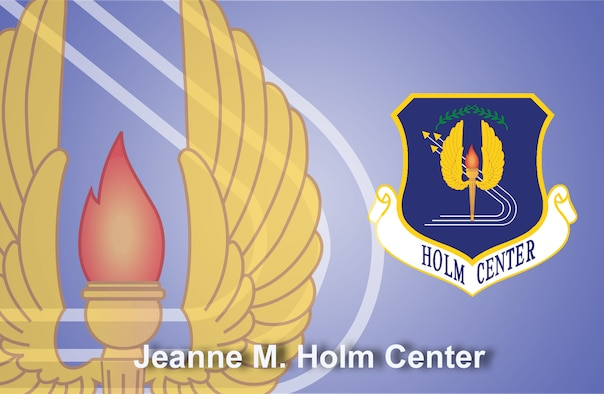 Jeanne M. Holm Center for Officer Accessions and Citizen Development fact sheet banner. (U.S. Air Force graphic by Andy Yacenda, Defense Media Activity-San Antonio)