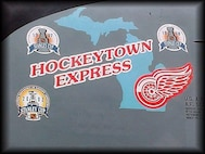 "This KC-135R Stratotanker from the 927th Air Refueling Wing at Selfridge Air National Guard Base, Mich. was called ""Hockeytown Express,"" as displayed on the nose art, commemorating the Detroit Red Wings NHL hockey team and its accomplishments. The 927th ARW moved to MacDill Air Force Base, Fla. in 2008 due to the Base Realignment and Closing Commission."