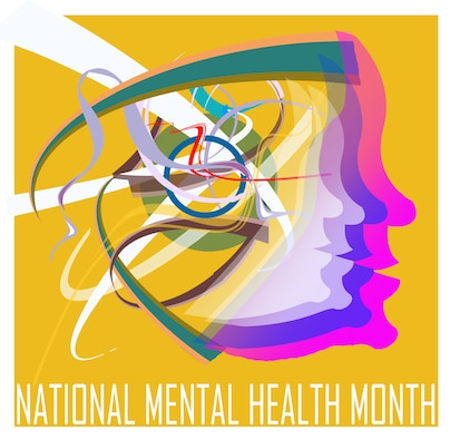 OFFUTT AIR FORCE BASE, Neb. -- May is National Mental Health Month and according to the professionals of the 55th Medical Group, people can ensure good mental health by reducing stress. Stress can be reduced by getting enough sleep, eating right, exercising and eliminating destructive habits. U.S. Air Force Graphic by Jeff W. Gates