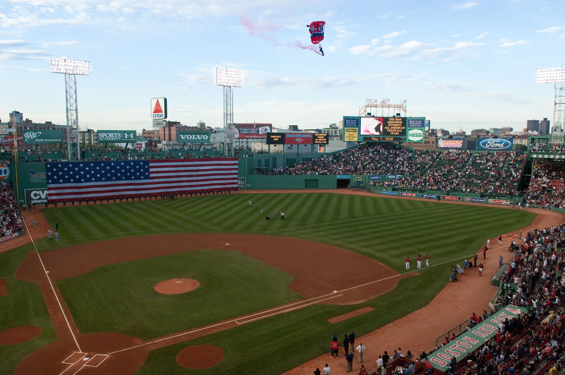 Flag Detail at Fenway Park