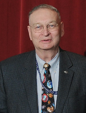 Dr. Kenneth Siegenthaler, a professor with the Air Force Academy's Department of Astronautics, received one of two Heiser Awards in a ceremony at the Academy May 6, 2010. The award is named for Professor Emeritus Dr. William Heiser and is the only faculty award selected by the graduating class of cadets. (U.S. Air Force photo)