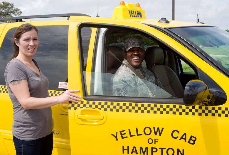 LANGLEY AIR FORCE BASE, Va – Veronica Sommer is a driver for Yellow Cab of Hampton.  The company augments Langley Airmen Against Drunk Driving when no volunteers are available by offering delayed-payment rides for intoxicated Airmen and their dependents.  (U.S. Air Force photo/Staff Sgt. Barry Loo)