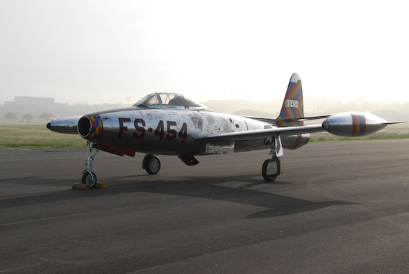 DAYTON, Ohio -- Republic F-84 Thunderjet at the National Museum of the United States Air Force. (U.S. Air Force photo)
