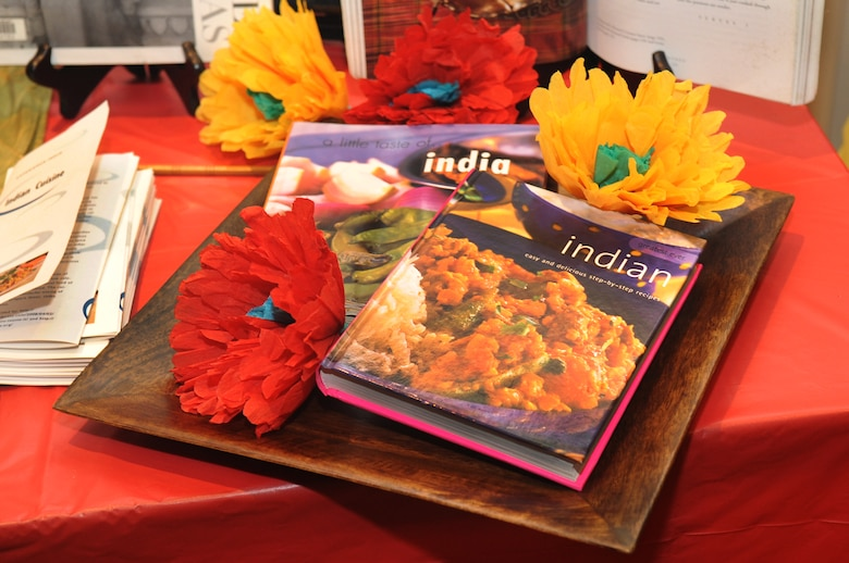 BUCKLEY AIR FORCE BASE, Colo. -- Cultural displays for Team Buckley to explore and learn were a part of the Asian Pacific Heritage food tasting May 26. (U.S. Air Force photo by Airman 1st Class Manisha Vasquez)