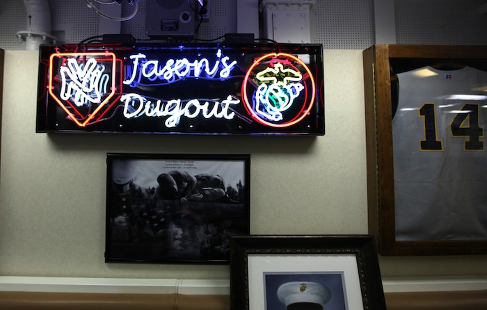 The USS Jason Dunham's galley's walls are covered with New York Yankees memorabilia. The Yankees were Medal of Honor recipient, Cpl. Jason Dunham's favorite team. The Navy's newest guided-missile destroyer was commissioned at Port Everglades, Fort Lauderdale, November 13, 2010.