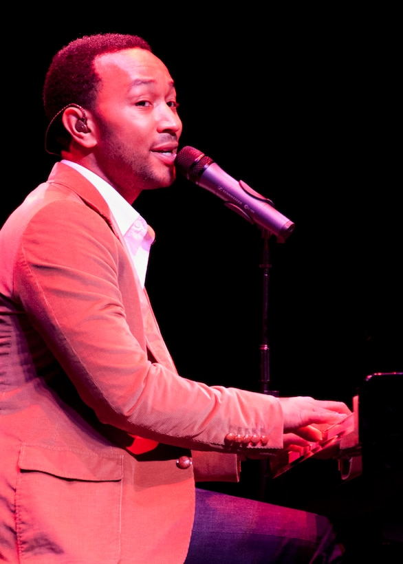 "Six-time Grammy winning R & B star John Legend entertained a crowd of more than 1,000 at the Mattie Kelly Performing Arts Center in Niceville, Fla., Nov. 13.  The show was part of the Air Force Reserve's ""Stateside Tour for the Troops"" series of concerts and special events.  Military and family members from Eglin Air Force Base, Hurlburt and Duke Field were given ticketed invitations to spend an ""Evening with John Legend.""  Tour for the Troops is tied to the Reserve's Get One Now program and Reservists who refer a friend to the Air Force Reserve through Get One Now can receive free tickets to concerts and events, with VIP exclusives, like backstage photos or a meet and greet with the starts.  (U.S. Air Force photo/ Tech. Sgt. Samuel King Jr.)"