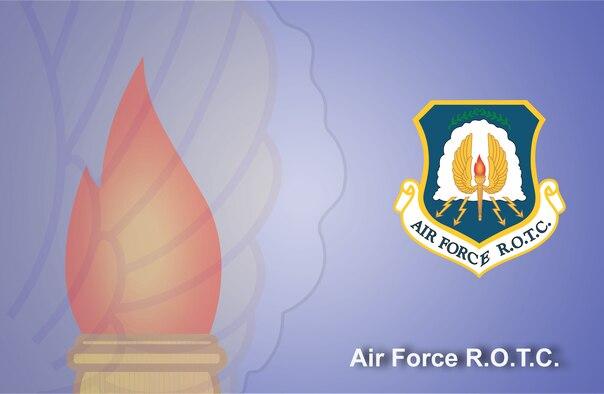 Air Force ROTC fact sheet banner. (U.S. Air Force graphic by Andy Yacenda, Defense Media Activity-San Antonio)