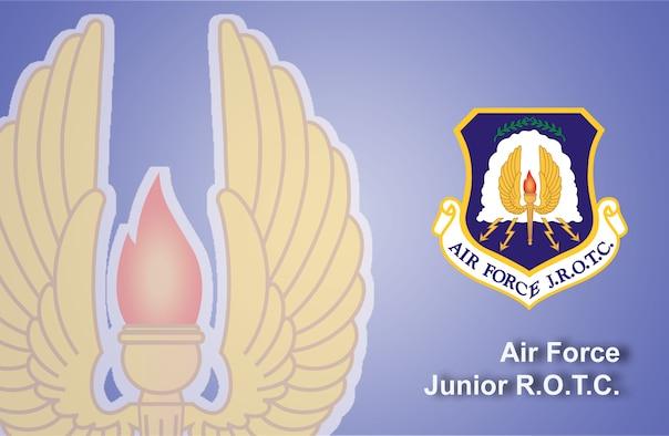 Air Force Junior ROTC fact sheet banner. (U.S. Air Force graphic by Andy Yacenda, Defense Media Activity-San Antonio)