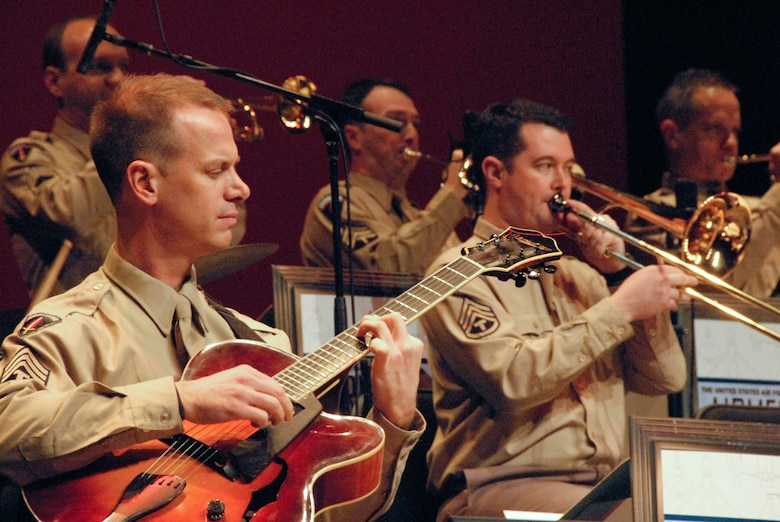 The U.S. Air Force band's Airmen of Note perform for the 28th Annual Glenn Miller Holiday Concert at the Montgomery Performing Arts Center, Dec. 5, 2009. (U.S. Air Force photo/Bud Hancock)
