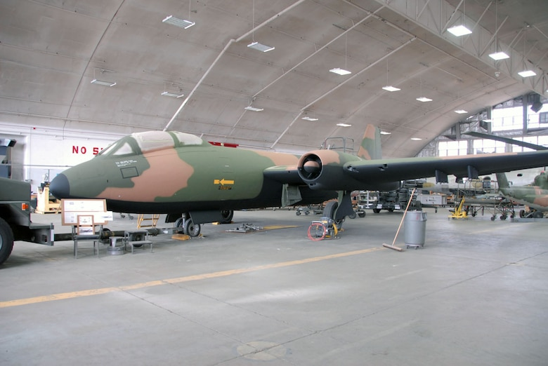 DAYTON, Ohio (11/2010) -- Martin B-57 in restoration at the National Museum of the U.S. Air Force. (U.S. Air Force photo)