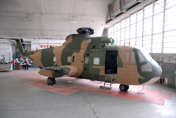 DAYTON, Ohio (11/2010) -- Sikorsky HH-3 in restoration at the National Museum of the U.S. Air Force. (U.S. Air Force photo)