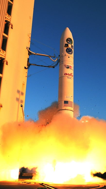 A rocket carrying FalconSAT-5 lifts off from Kodiak Launch Complex, Alaska, Nov. 19, 2010. FalconSAT-5 is an Air Force Academy satellite designed, built and tested by seniors in a capstone astronauticcs project. (U.S. Air Force photo)