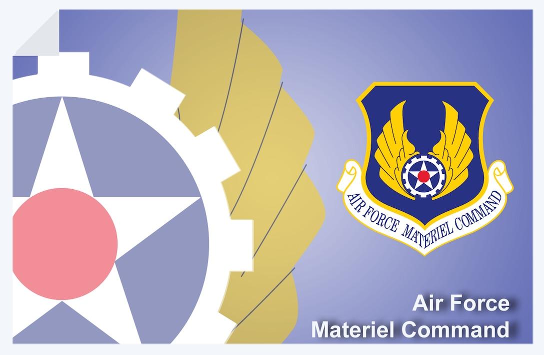 Air Force Materiel Command web banner. (U.S. Air Force graphic by Andy Yacenda, Defense Media Activity-San Antonio)
