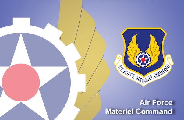 Air Force Materiel Command fact sheet banner. (U.S. Air Force graphic by Andy Yacenda, Defense Media Activity-San Antonio)