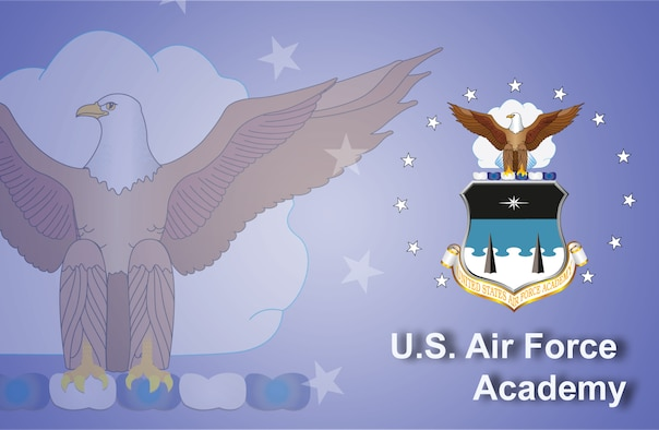 Air Force Academy fact sheet banner. (U.S. Air Force graphic by Andy Yacenda, Defense Media Activity-San Antonio)
