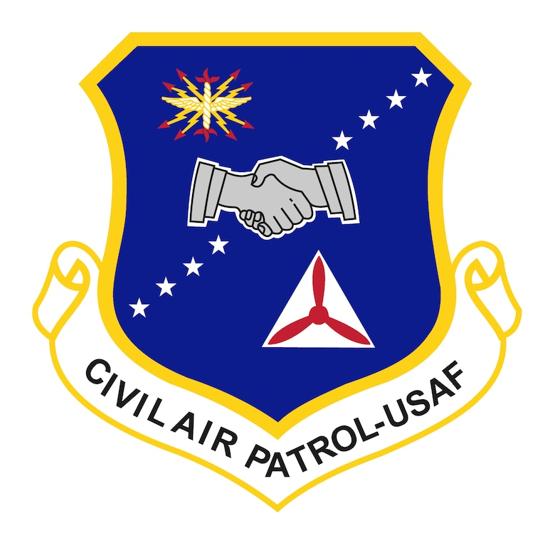 Civil Air Patrol Shield v2 (Color), Graphic courtesy of Civil Air Patrol National Headquarters. Commercial reproduction of this emblem is NOT permitted without the permission of the proponent organizational/unit commander. Image is 7x7 inches @ 300 ppi.