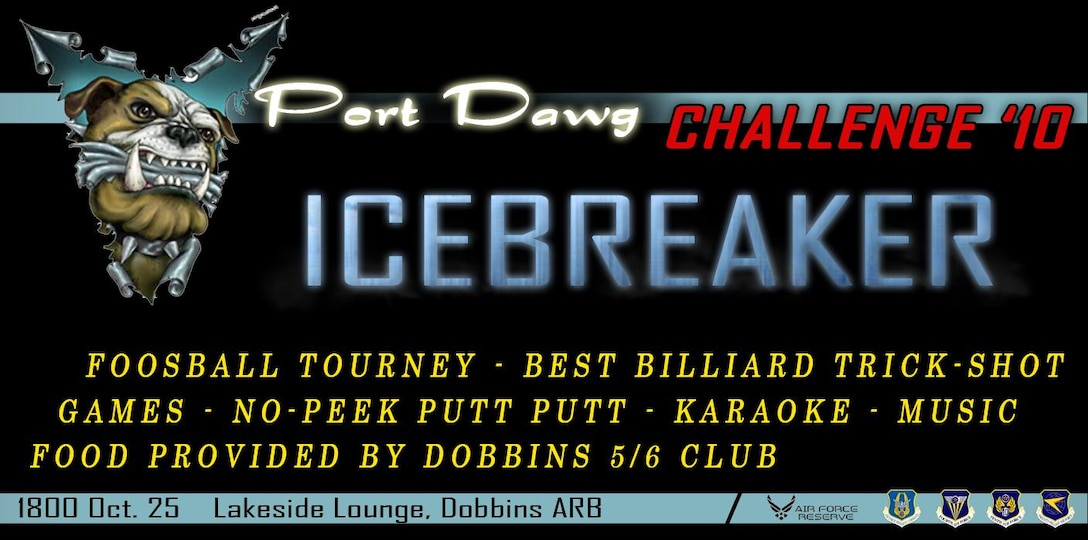 2010 Port Dawg Challenge and the 56 Group will be hosting an icebreaker and cookout Oct. 25 at 6:00 p.m.