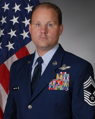 Chief Master Sgt. Gregg Kollbaum, 314th Operations Group superintendent