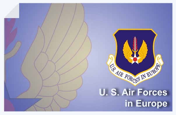U. S. Air Forces in Europe web banner. (U.S. Air Force graphic by Andy Yacenda, Defense Media Activity-San Antonio)