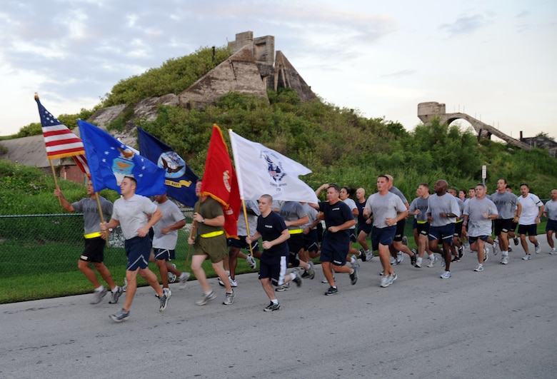 KEY WEST, Fla. -- Members of the Joint Interagency Task Force South participate in a 5-kilometer fun run to celebrate the Air Force birthday Sept. 18. (Courtesy photo)