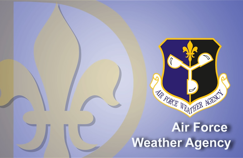 Air Force Weather Agency fact sheet banner. (U.S. Air Force graphic by Andy Yacenda, Defense Media Activity-San Antonio)