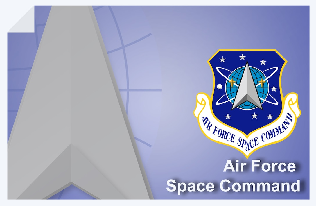 Air Force Space Command web banner. (U.S. Air Force graphic by Andy Yacenda, Defense Media Activity-San Antonio)