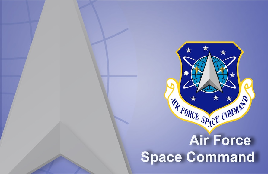 Air Force Space Command fact sheet banner. (U.S. Air Force graphic by Andy Yacenda, Defense Media Activity-San Antonio)