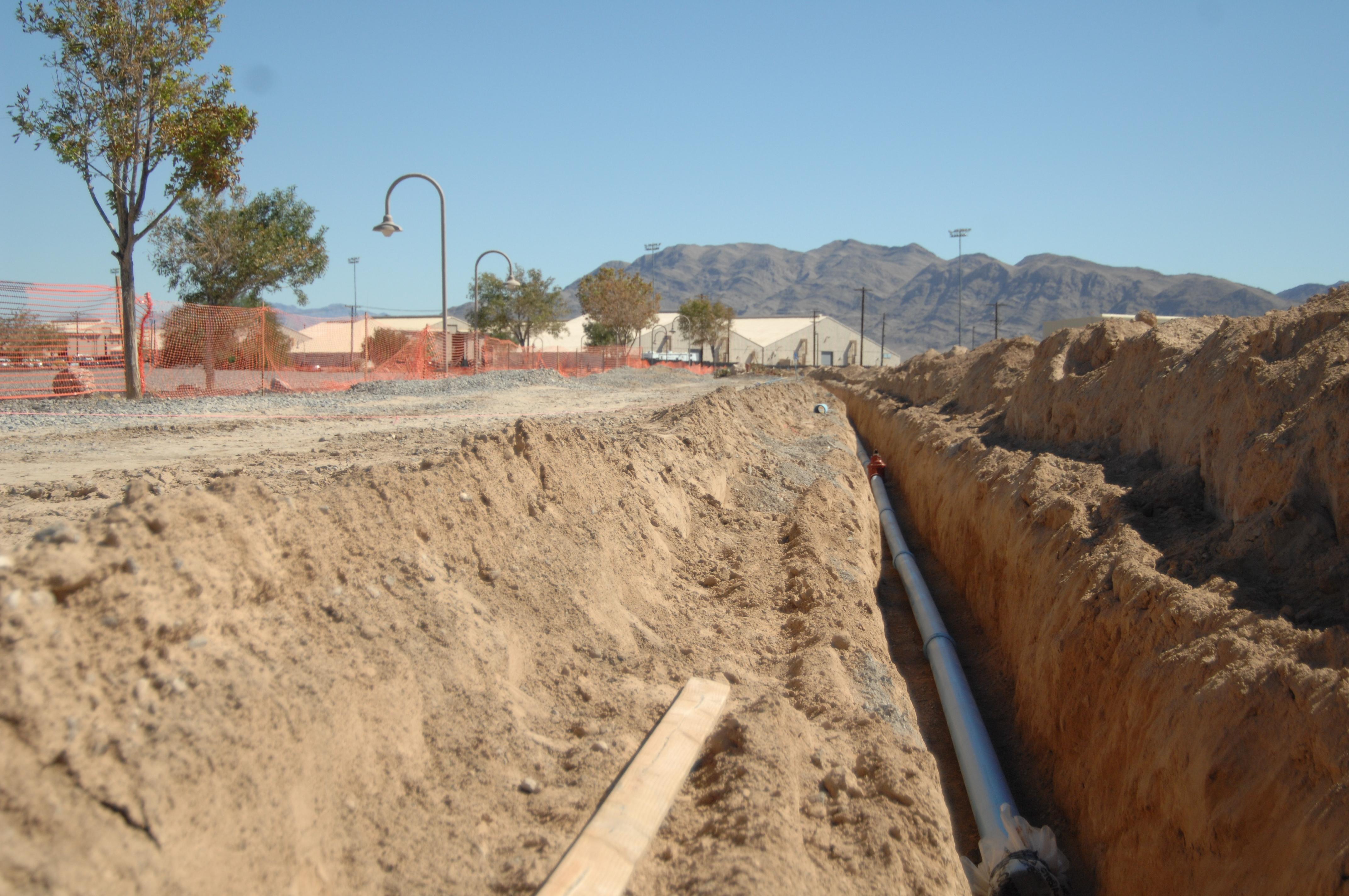 Nellis begins water pipe construction & Nellis begins water pipe construction u003e Nellis Air Force Base u003e News