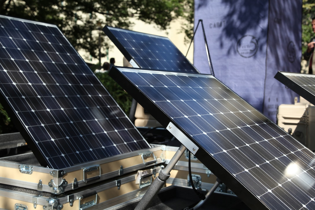 The Department of Defense hosted the Pentagon Energy Security Event in the courtyard of the Pentagon Oct. 12-15, 2010. The event was a part of Energy Awareness Month. Renewable and energy efficient technologies were displayed at the event; more than 80 of these are currently deployed DoD-wide.