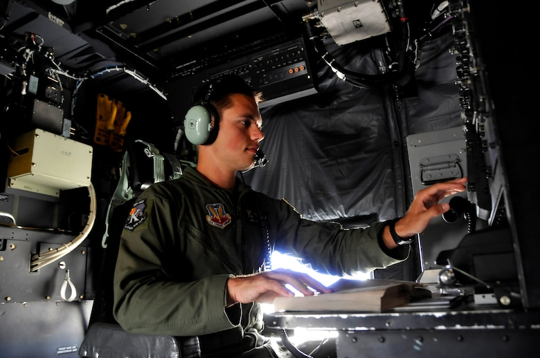 Senior Airman Jeffrey MacNeill, a C-130 Combat Shadow radio operator with the 130th Rescue Squadron, is featured as this month's Portrait of a Professional. (Air National Guard photo by Tech. Sgt. Ray Aquino)