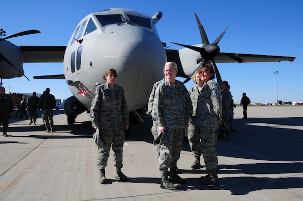Unit members of the North Dakota Air National Guard, Fargo, N.D. get their first look at a C-27J Spartan aircraft upon landing Oct. 14, at Hector International Airport in preparation for a familiarization tour being conducted Friday, Oct. 15, by L-3 Platform Integration, Alenia North America, and the companies' joint venture, Global Military Aircraft Systems (GMAS), at the Fargo Air National Guard Base.  The familiarization tour is to help unit members of the North Dakota Air National Guard get acquainted with their future aircraft and planned mission transition scheduled to begin in 2013.  The media is also invited to the NDANG to take a look at the new aircraft. The C-27J is a mid-range, multifunctional and interoperable aircraft able to perform logistical re-supply medical evacuation, troop movement, airdrop operations, humanitarian assistance and homeland security missions for the U.S. Air Force. The C-27J is essential to the U.S. Air Force's ability to provide on-demand transport of time-sensitive/mission-critical cargo and key personnel to forward deployed units.