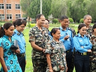 Nepalese students attending DIMO's avian/pandemic influenza course included medical personnel from the Nepal Army, Armed Police Force, Nepal Police Organization and civilian medical staff; Kathmandu, Nepal, June 2010.  (US Air Force Photo)